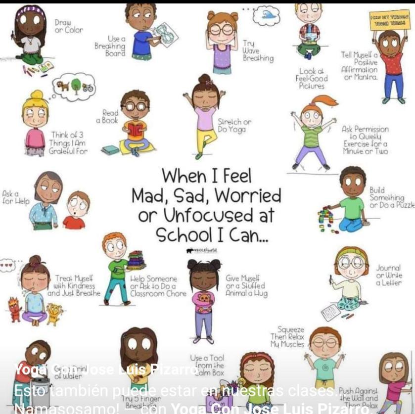 When I feel sad, unconfused, worried...